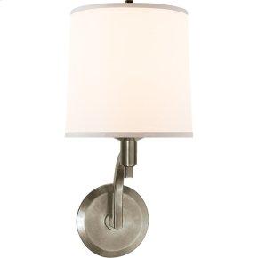 Visual Comfort BBL2023PWT-S Barbara Barry Westport 1 Light 8 inch Pewter Finish Decorative Wall Light