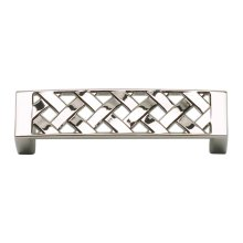 Lattice Pull 3 Inch (c-c) - Polished Nickel