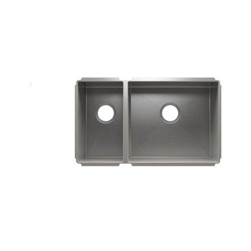 """J7® 003982 - undermount stainless steel Kitchen sink , 9"""" × 16"""" × 8""""  18"""" × 16"""" × 10"""""""