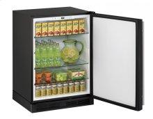 """1000 Series 24"""" Solid Door Refrigerator With Black Solid Finish and Field Reversible Door Swing"""