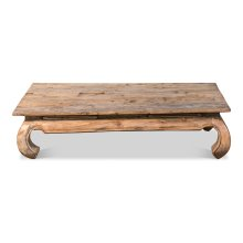 Old Teak Peking Garden Table, Large