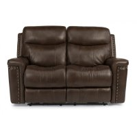 Grover Leather Power Reclining Loveseat Product Image