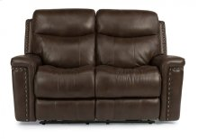 Grover Leather Power Reclining Loveseat