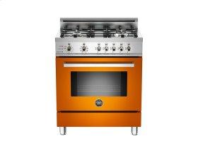 30 4-Burner, Electric Self-Clean Oven Orange