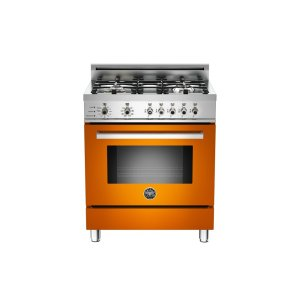 30 4-Burner, Electric Self-Clean Oven Orange - Orange