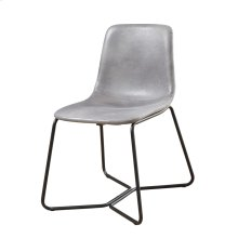 Gray Dining Chair W/ Upholstered Seat & Back
