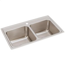 """Elkay Lustertone Classic Stainless Steel 33"""" x 19-1/2"""" x 10-1/8"""", Equal Double Bowl Drop-in Sink"""
