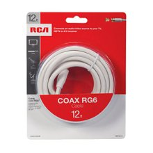 RCA 12 Ft Digital RG6 Coaxial Cable - White