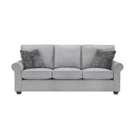 3 Cushion Sofa - Gray Microfiber Finish