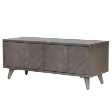 Piero Chevron Low Media Stand, Weathered Gray