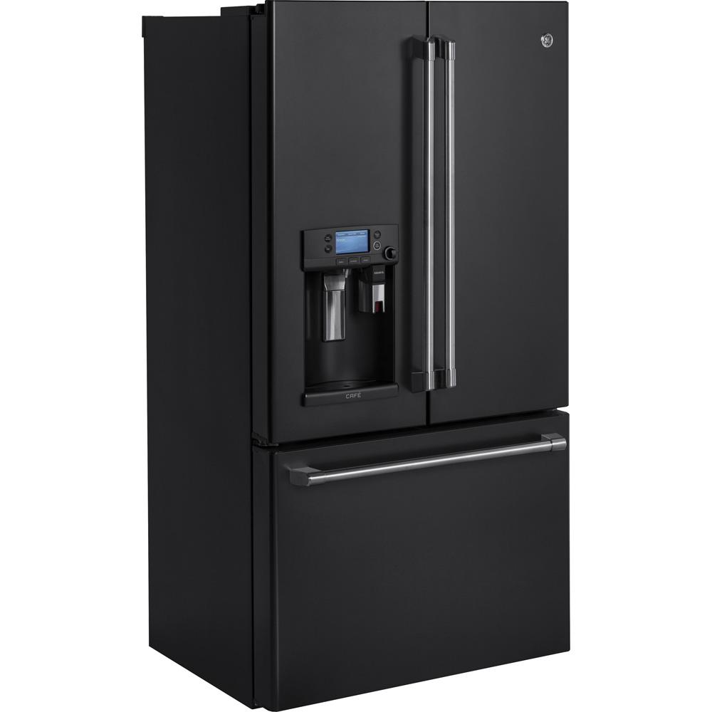 Cfe28ueldsge Ge Cafe 278 Cu Ft French Door Refrigerator In Black