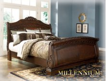 North Shore - Dark Brown 3 Piece Bed Set (Queen)