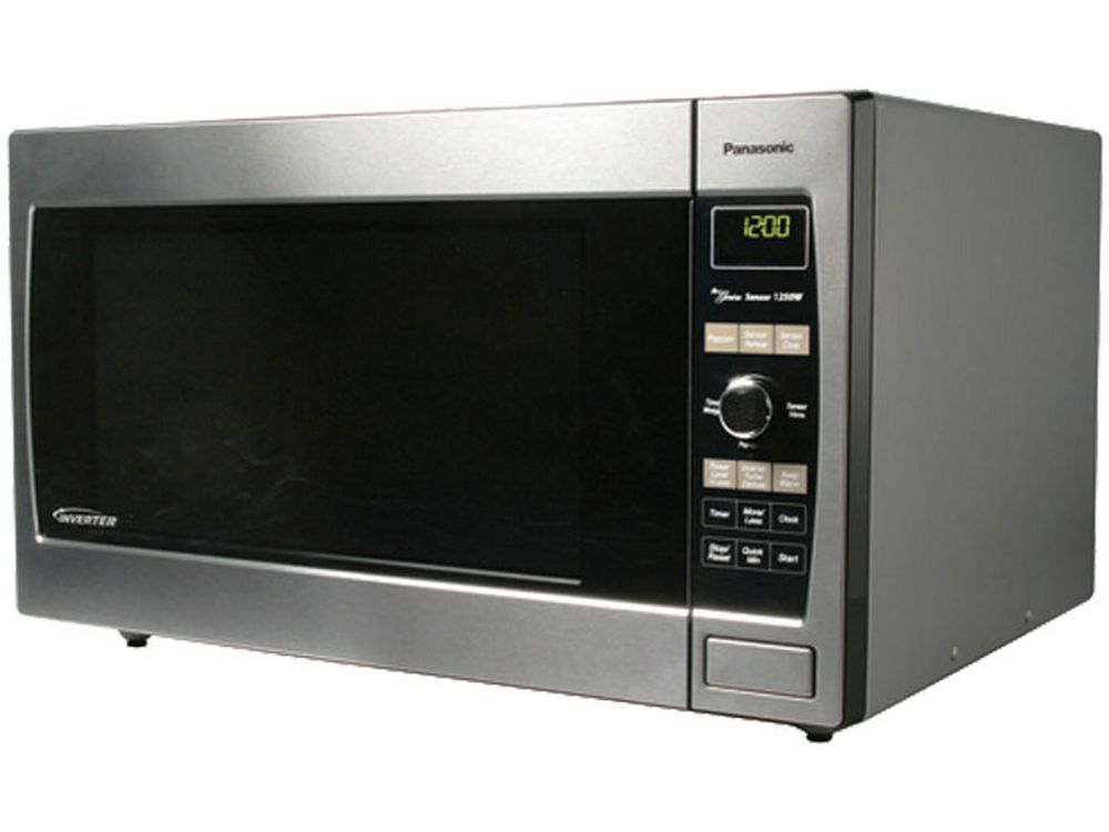 Panasonic Family Size 1 2 Cu Ft Countertop Microwave Oven With Inverter Technology Stainless