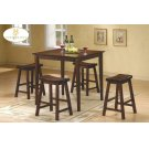 5PC Pack Dinette Set Warm Cherry Finish Product Image