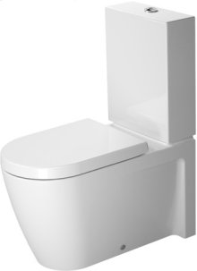 White Starck 2 Toilet Close-coupled