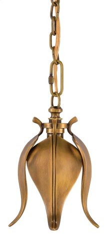 Iota Brass Pendant