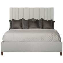 Queen-Sized Modena Upholstered Bed in Espresso