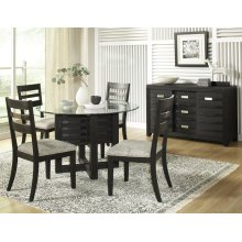 5 PIECE SET (TABLE AND 4 SIDE CHAIRS)