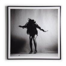 "40""x40"" Size Paper + Black Maple Frame Style Tina Turner"