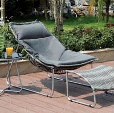 Lili Patio Chair W/ Ottoman Product Image