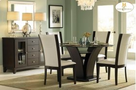 Round Dining Table, Glass Top