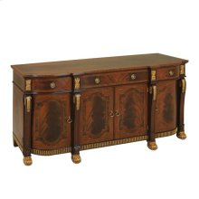 MAHOGANY BUFFET CARVED GOLD GILDED