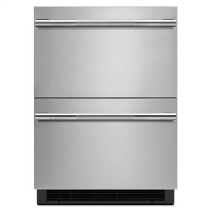 "Jenn-AirRISE 24"" Double-Refrigerator Drawers"