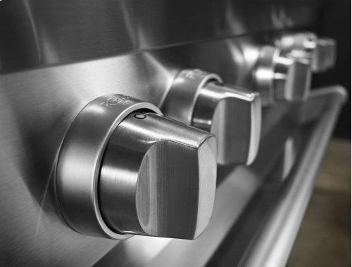 36'' 6-Burner Dual Fuel Freestanding Range, Commercial-Style - Stainless Steel