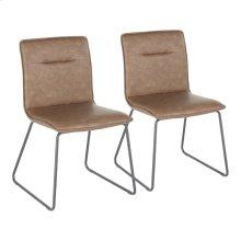 Casper Chair - Set Of 2 - Black Metal, Espresso Pu