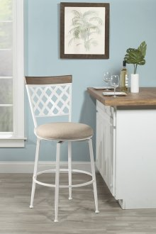 Greenfield Commercial Swivel Counter Stool - White