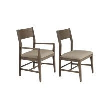 Aurora Side Chair with fabric seat