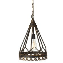 Distressed Black Tapered Pendant. 60W Max. Hardwire Only.