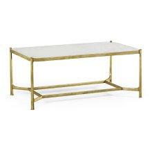 glomise & Gilded Iron Rectangular Coffee Table