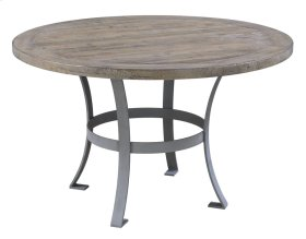 "Interlude - Complete Round 48"" Dining Table-pine Top & Metal Base"