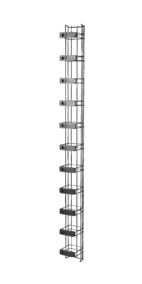 "MM20 Vertical Manager with Latches, 4""W x 6.12""D for 7' MM20 racks"