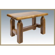 Homestead Ottoman - Stained and Lacquered