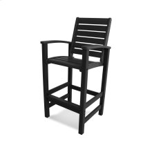 Black Signature Bar Chair