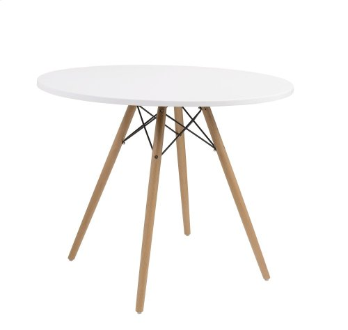 """Emerald Home Annette Dining Table-round White Top 40"""" D118-10-40wht-k"""