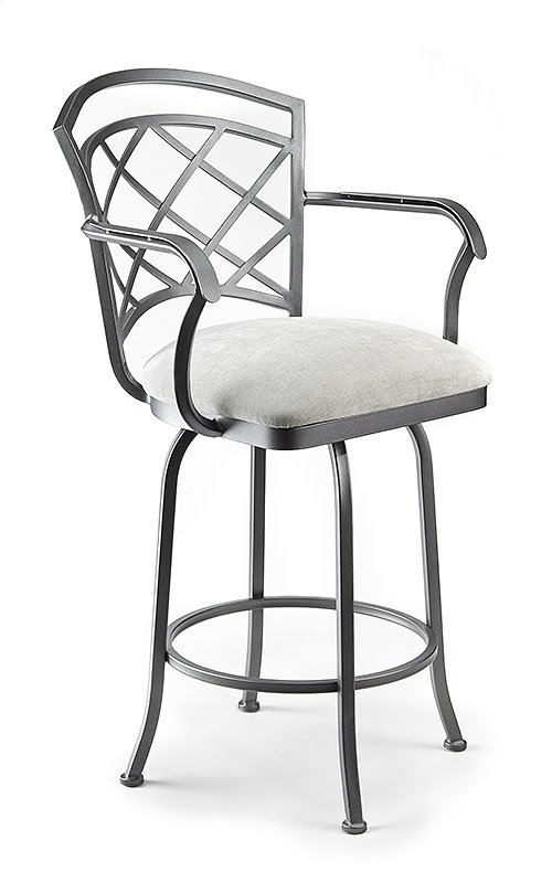 Boston B515H26AS Swivel Back and Arms Bar Stool