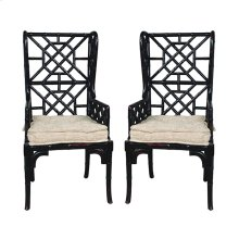 BAMBOO WING BACK CHAIR - Set of 2