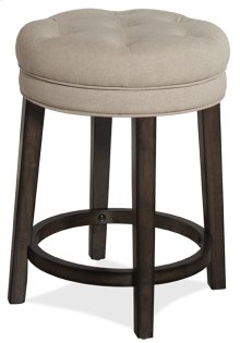 Krauss Backless Swivel Stool - Linen Stone