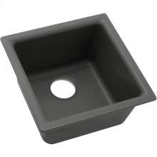 "Elkay Quartz Classic 15-3/4"" x 15-3/4"" x 7-11/16"", Single Bowl Dual Mount Bar Sink, Dusk Gray"