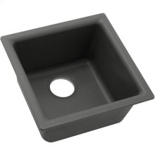"Elkay Quartz Classic 15-3/4"" x 15-3/4"" x 7-11/16"", Single Bowl Dual Mount Bar Sink, Dusk Gray"
