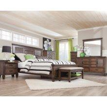 Franco Burnished Oak King Five-piece Bedroom Set
