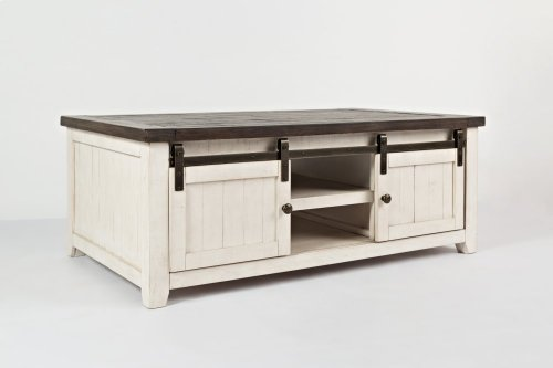 Madison County Barn Door Cocktail Table - Vintage White