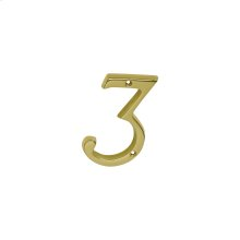 House Accessories  Classic House 3 - Bright Brass