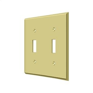 Switch Plate, Double Standard - Polished Brass