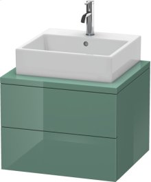 Delos Vanity Unit For Console, Jade High Gloss Lacquer