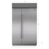 "Subzero 48"" Classic Side-By-Side Refrigerator/freezer With Internal Dispenser"
