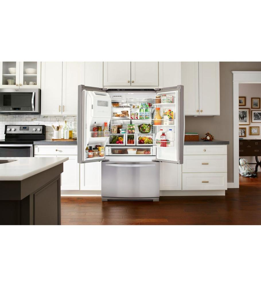 36 Inch Wide French Door Refrigerator With CoolVox Kitchen Sound System    27 Cu.